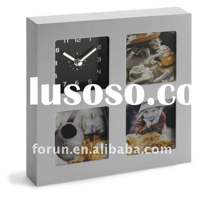 fashionable photo frame with clock
