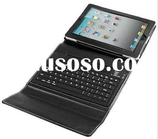 for iPad2 bluetooth keyboard Bluetooth Wireless Keyboard For iPad 2 + Leather Case