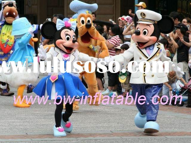 fur costume /mascot costume/mickey &minnie mouse costume