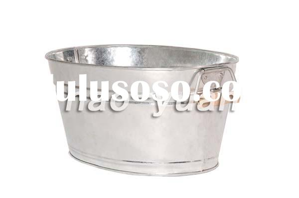 galvanized wash tub 17L