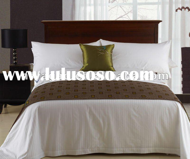 hotel bed linen, hotel bedding, hotel bed runner
