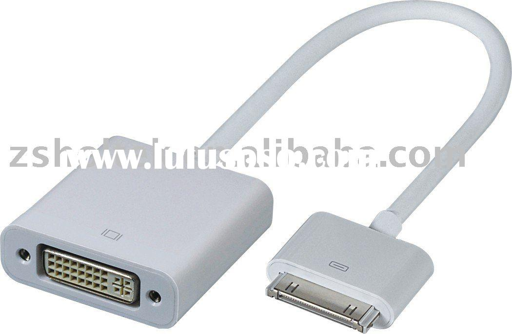 ipad Male to DVI Female Audio and video Telephone cable