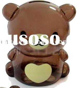 kids plastic bear money box