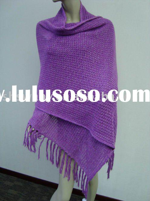 ladies new fashion triangle knitted Cashmere winter shawl