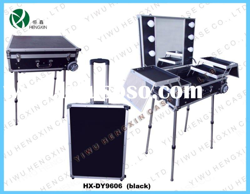 make up case with lights,makeup train case,(HX-DY9606)