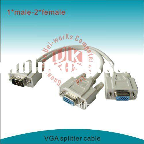 male to 2female 15pin VGA splitter cable