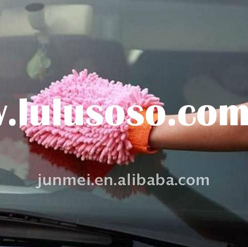 microfiber car cleaning glove,household chenille car washing glove