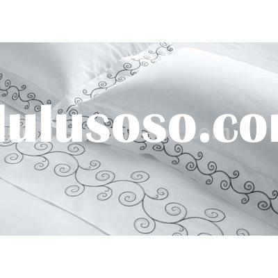 microfiber lace and embroidery bed sheet sets