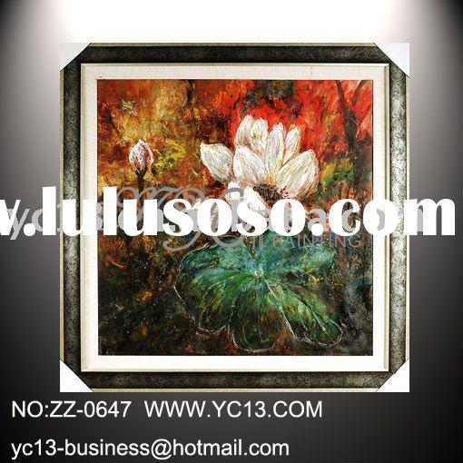 modern abstract wall decorative oil painting of low price on canvas