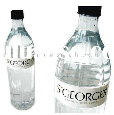 natural mineral water glass bottle with plastic cap