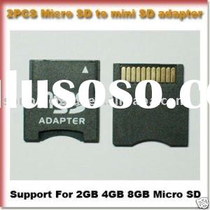 new Dual 2 pcs TF MICRO SD Micro sdhc card TO MINI SD adapter case for 1GB 2GB 4GB 8GB 16GB 32GB