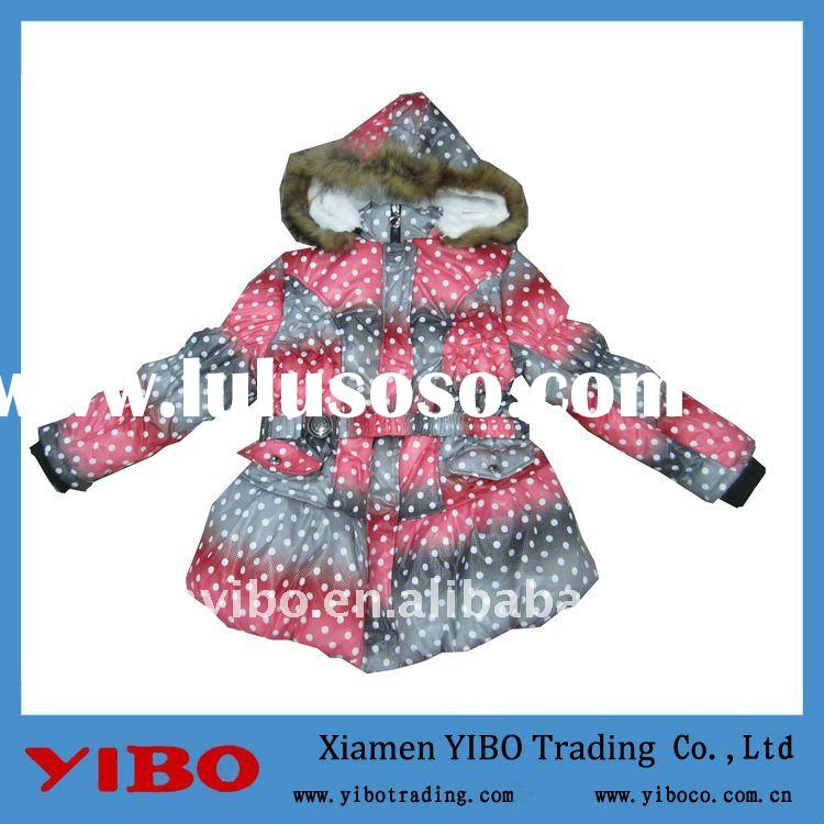 new super warm girl designer printed winter jackets with hood