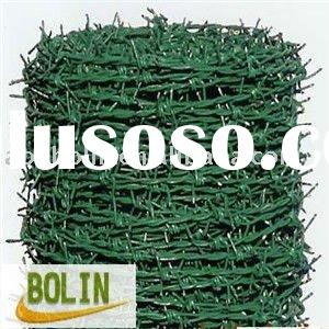 plastic sprayed barbed wire fence