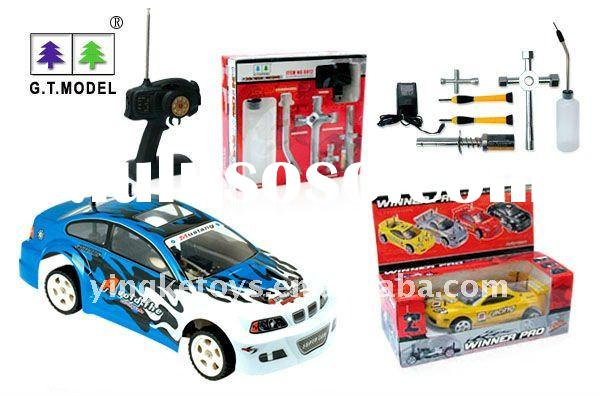 radio control car gas 1:10 with tools kit