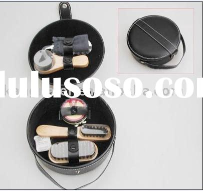 shoe clean set,pu leather shoe care set,shoe polish set