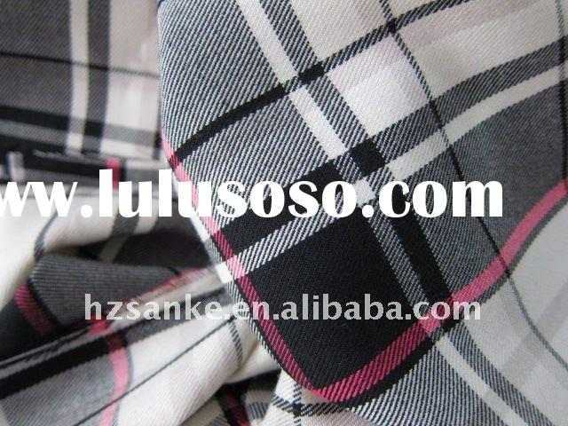 t/r with spandex yarn dyed check trousers fabric