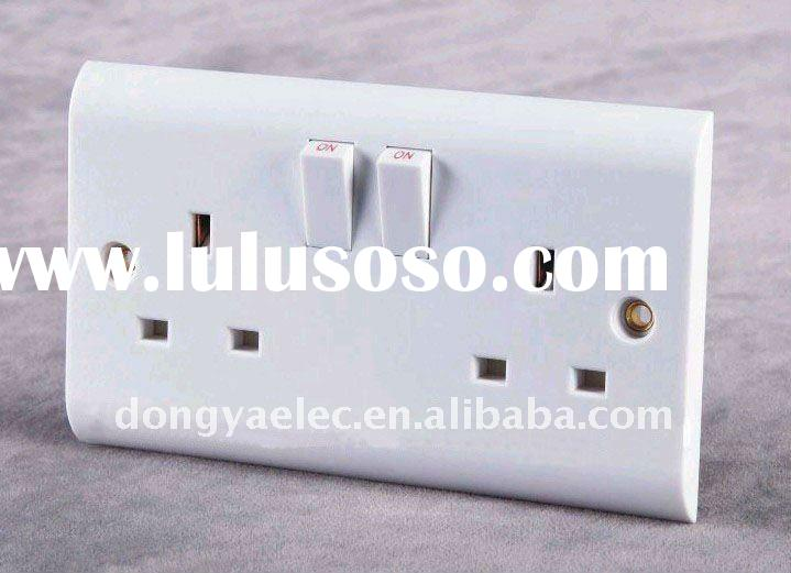 wall socket with switch 2 gang double type swich with socket
