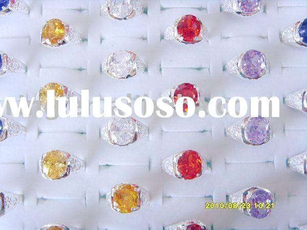 wholesale mixed lots CZ&925 Sterling silver rings