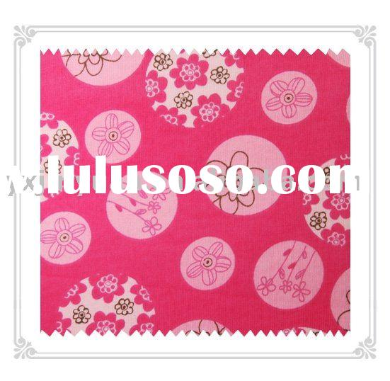 100% cotton knitted printed fabric for making pajama