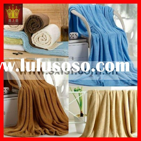 100% polyester coral fleece hotel blanket
