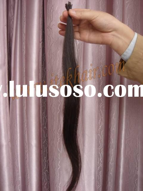 100% real indian remy hair extension,pre-bonded hair extension,keratin hair extension