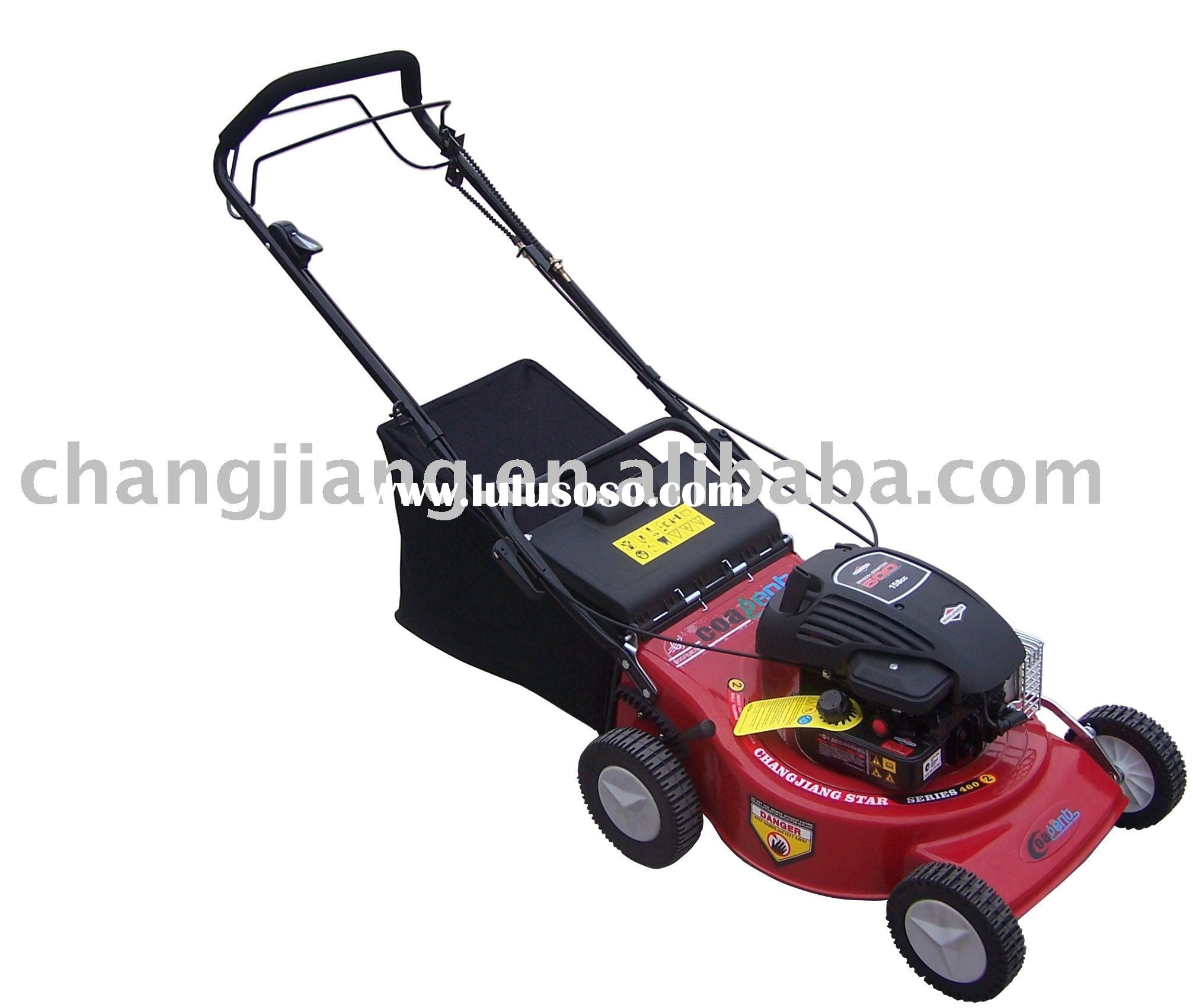 "18"" self propelled lawn mower, auto grass cutter, gasoline lawn mower"