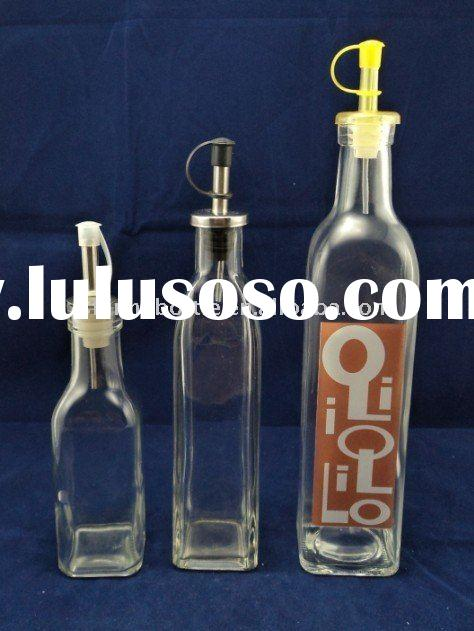 200ml 350ml 500ml oil glass bottles with plug