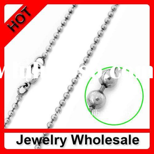 2012 Stainless steel Ball chain with lobster clasp necklace