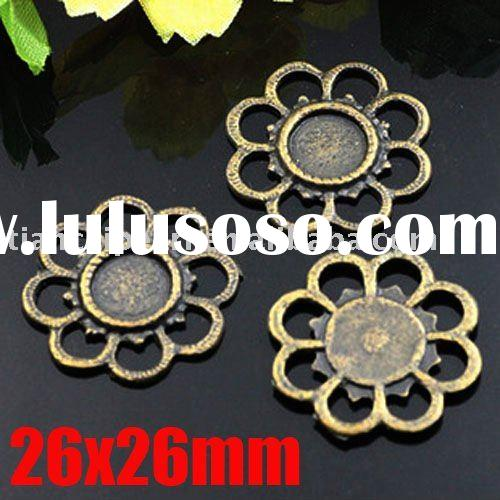 26x26mm Antique Brass Bronze Pendant Base Blank Jewelry Findings Jewelry Accessories Jewelry Fitting