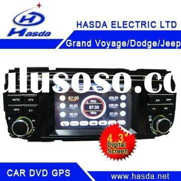 "2 din 4.3."" Car Radio with DVD GPS for Chrysler Grand Voyager,Dodge,Jeep with dvd,Mp3,Mp4 playe"