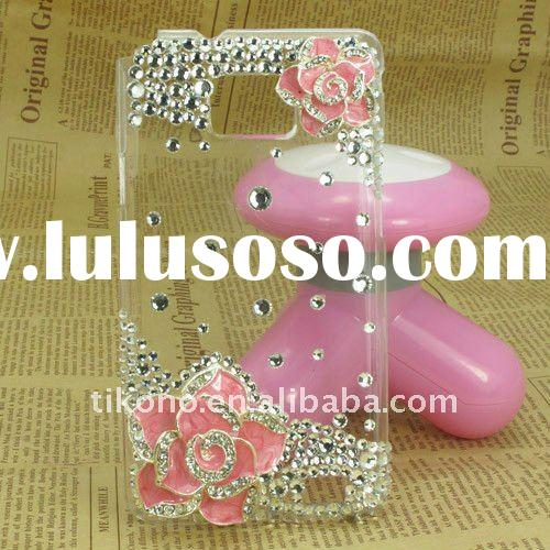 3D bling rhinestone diamond back case for Samsung Galaxy S2 I9100