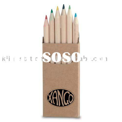"3.5""-6pcs nature wooden color pencil in recycled paper tube"