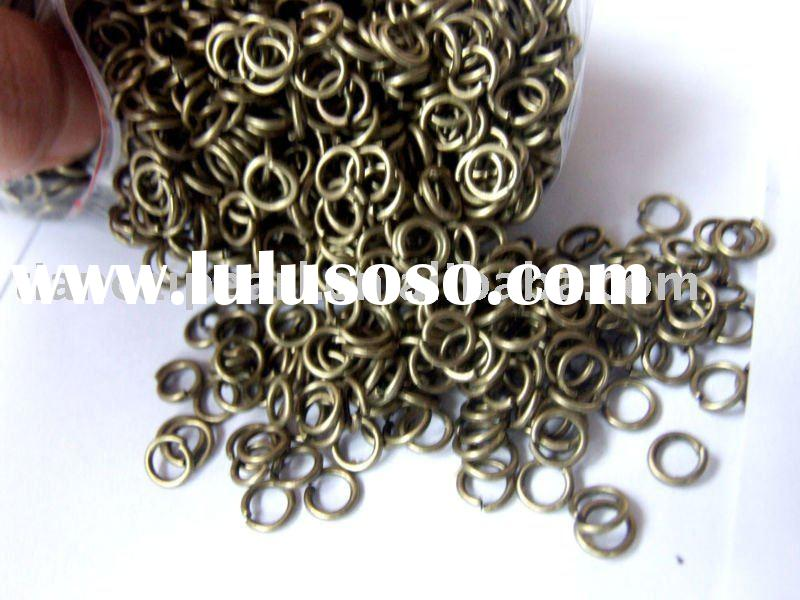 4mm 10000pcs/lot antique brass bronze jump rings&split rings Jewelry Findings Jewelry Accessorie