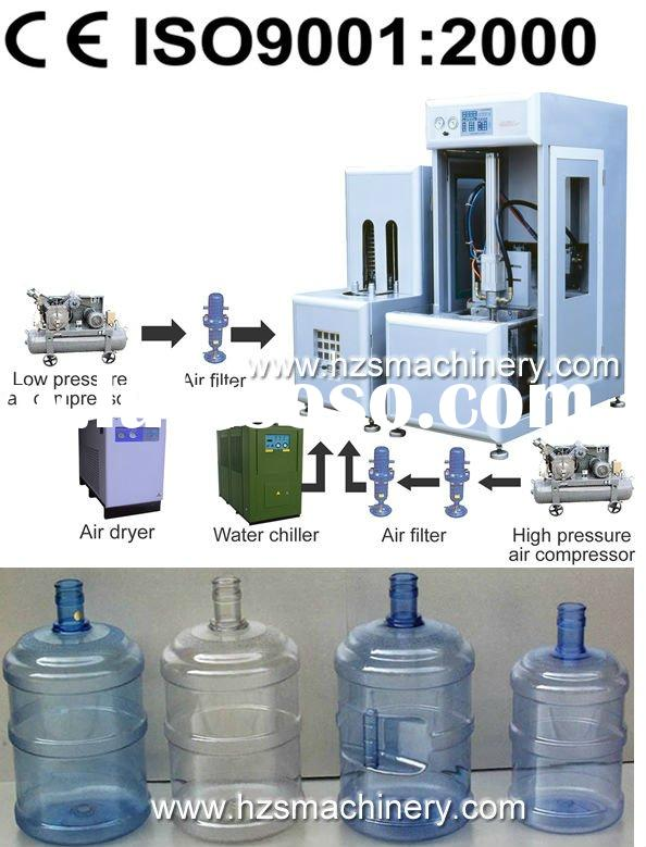 5 Gallon PET bottle blowing machine(semi automatic)