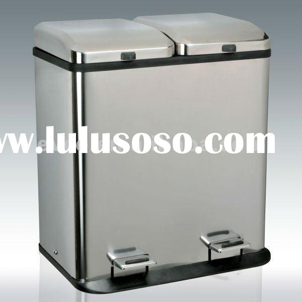 60L Stainless Steel Double Lattice Recycle Pedal Bin