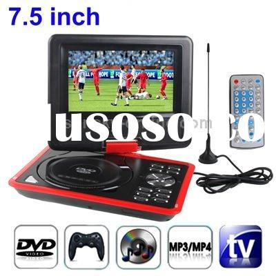 7.5 inch TFT LCD Screen Digital Multimedia Portable DVD Player