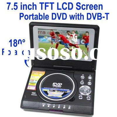 7.5 inch TFT LCD Screen Portable DVD Player