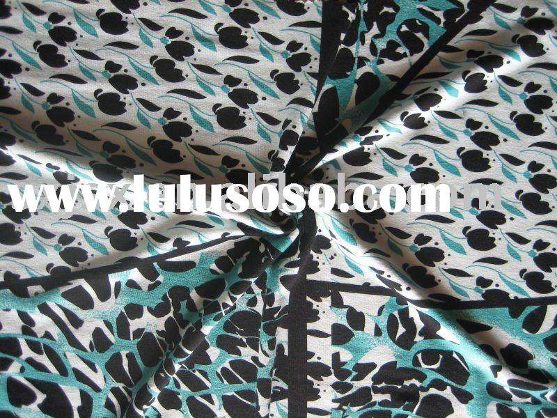 95% Rayon 5% Spandex printed Knitted Fabric/rayon spandex jersey printing fabric