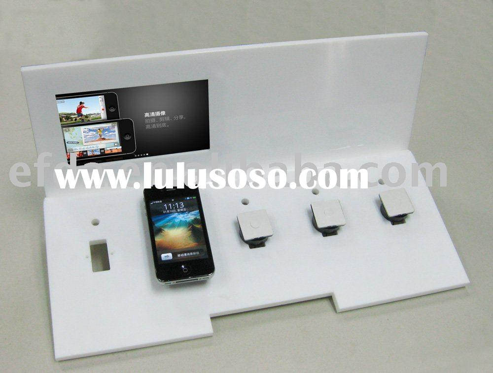 Acrylic mobile phone display stand with LCD media player