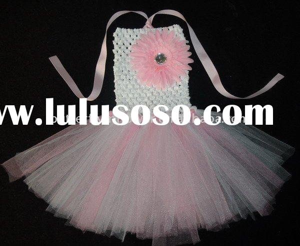 Baby Tutu dresses banque skirts with flower for baby girls skirts no moq