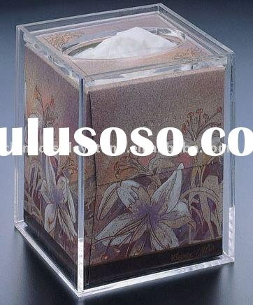 Clear Acrylic Tissue Box Cover