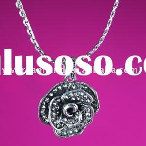 Dreamland jewelry Fashion alloy necklace rose pendants flower necklace PL0021