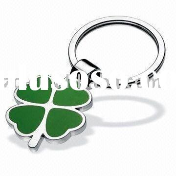 Four-leaf Clover Shaped Classic Metal Keychain,zinc alloy key chains