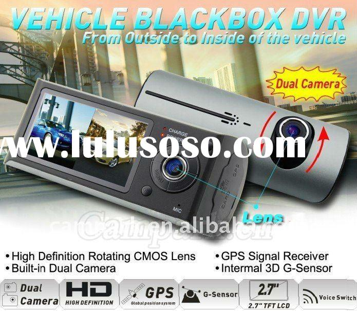 HD Car Black Box with GPS Dual lens Camera