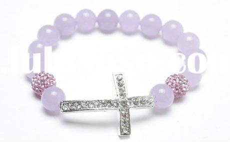 Hot Pave Crystal Cross Bracelet