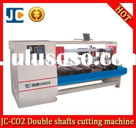 JC-C02 Double shafts PVC tapes log roll automatic cutting machine