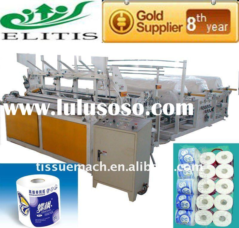 PLC Touch Screen Full Automatic Slitter Rewinder Machine Paper Roll