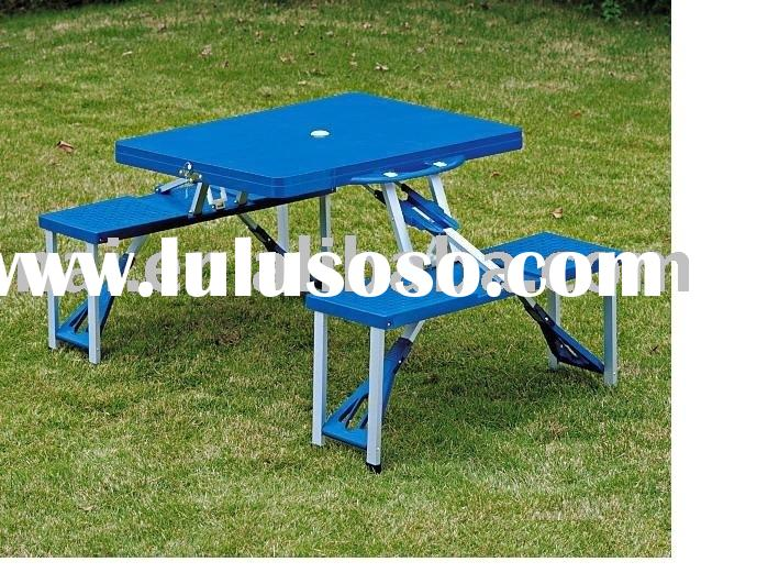 Picnic Table, Steel Plastic Folding Table