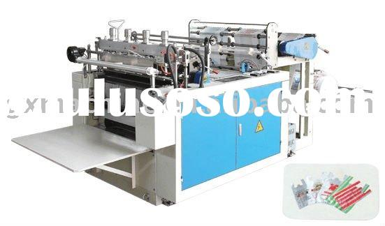 Plastic T-shirt shopping bag making machine