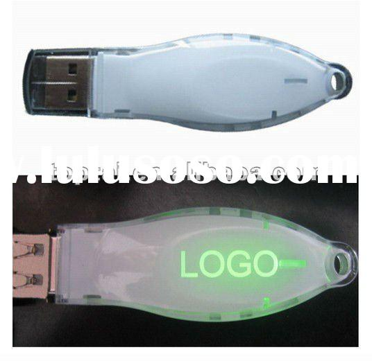 Plastic USB Flash Drive With LED Light